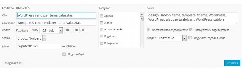 wordpres-alapozo-tanfolyam-wordpress-bejegyzes-gyorsszerkeszes