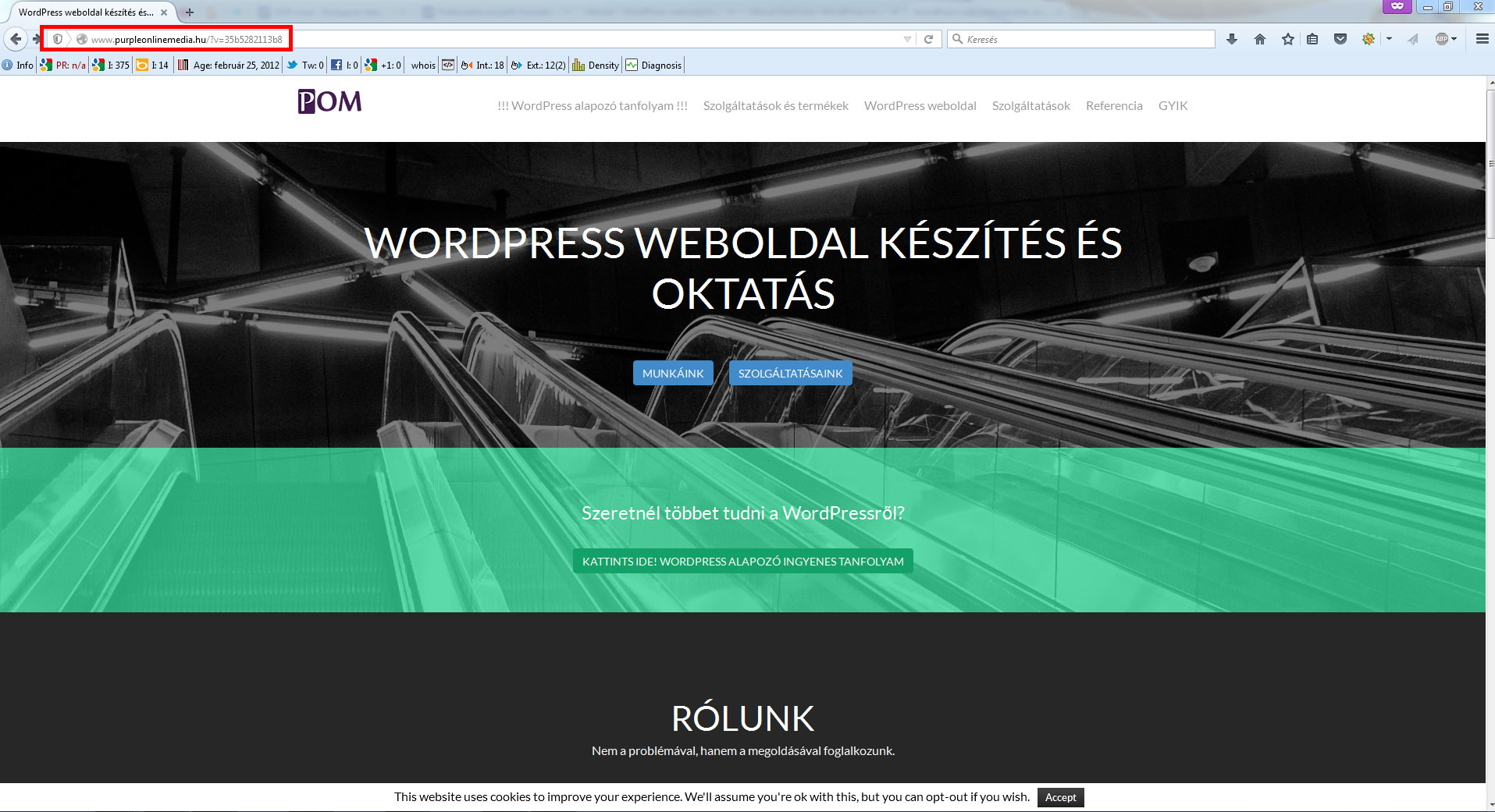 wordpress-weboldal-woocommerce-hiba-URL